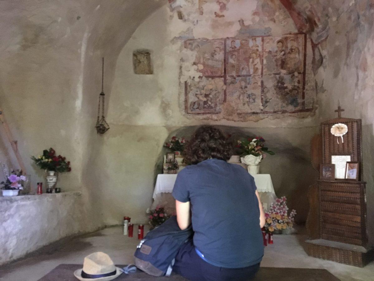 ALICE CATTANEO, primo sopralluogo all'Eremo della Madonna del Cauto a Morino