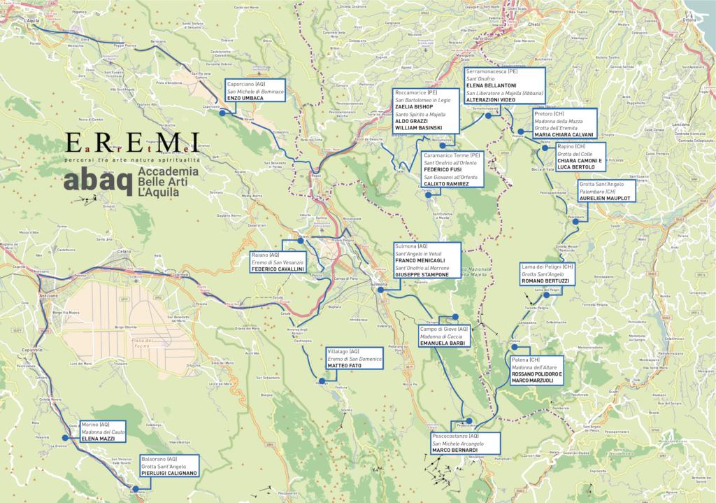 Mappa EREMI ARTE NoLegenda
